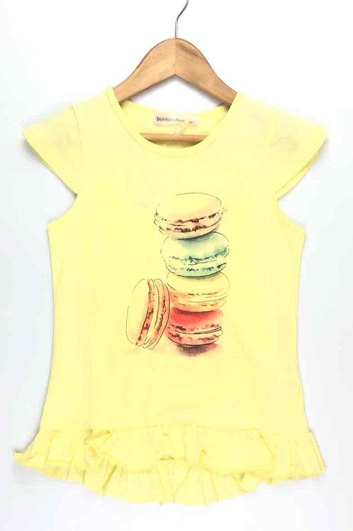 T-Shirt Macarons Yellow