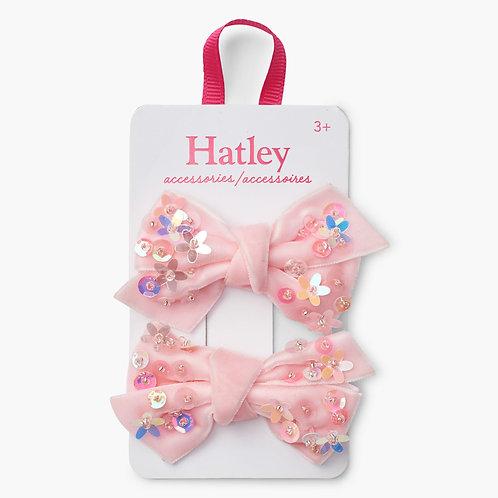 Hatley Haarspeldjes Licht  Roos 2 stuks