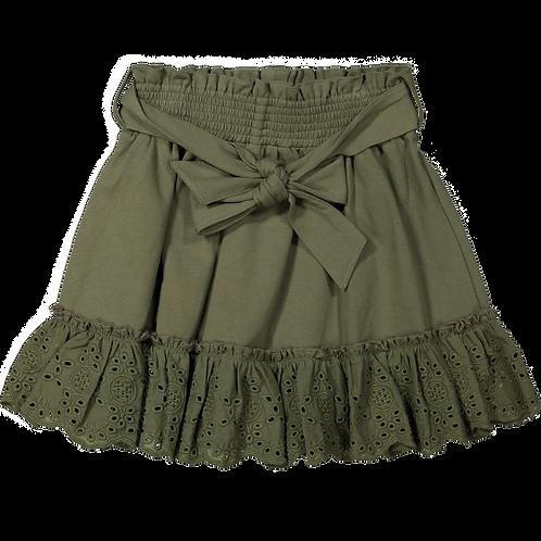 Vinrose Skirt Khaki Embroidery