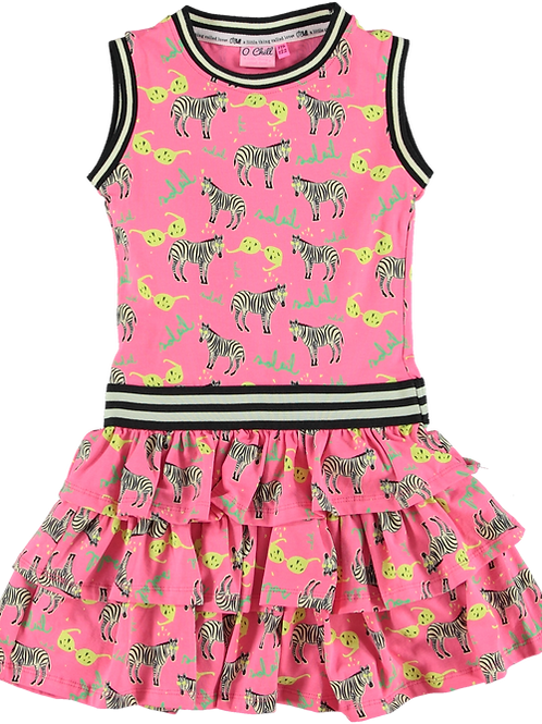 O'Chill Dress Nikki Pink Zebra