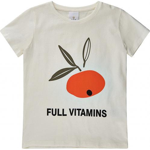 The New T-Shirt White Orange