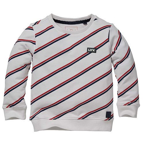LEVV Nicolai Sweater Diagonal Stripe
