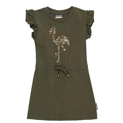 Vinrose Dress Flamingo Khaki
