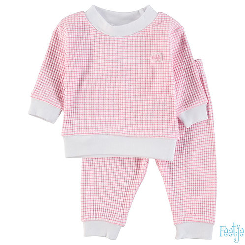 Feetje Pyjama Roos & Wit