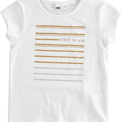 iDo T-Shirt White Gold