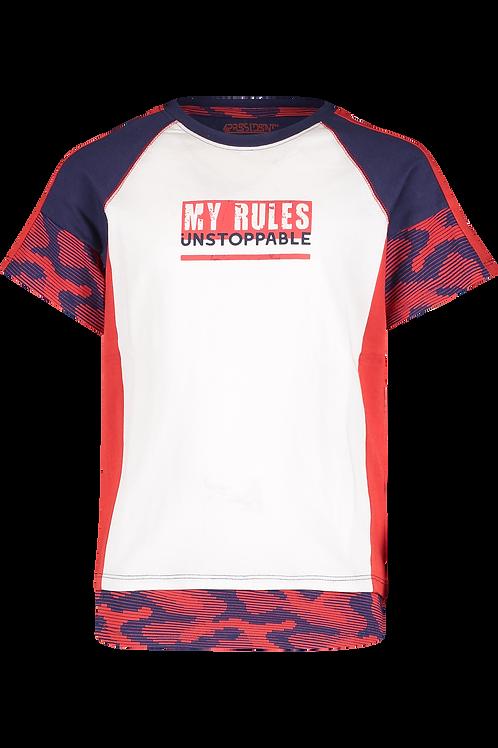 4 President T-Shirt Iker Red Navy