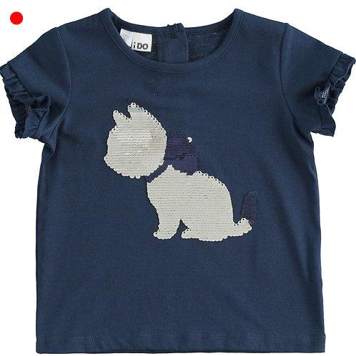 iDo T-Shirt Cat Navy