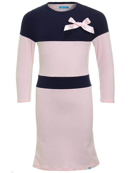 Bobbi Ravioli Dress Lise Navy - Pink