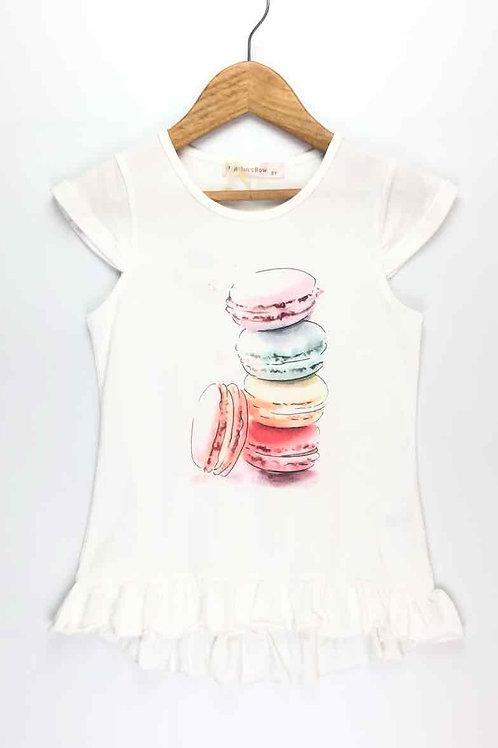 T-Shirt Macarons White