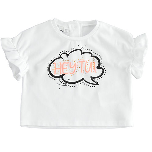 iDo T-Shirt White Orange Hey Tu