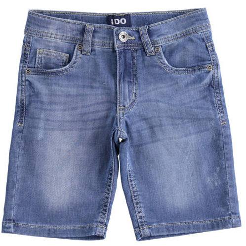 iDO Short Denim Brown Label