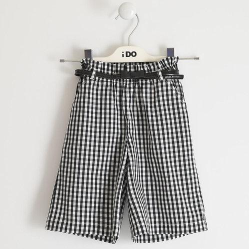 iDO Wide Pants Vichy Navy