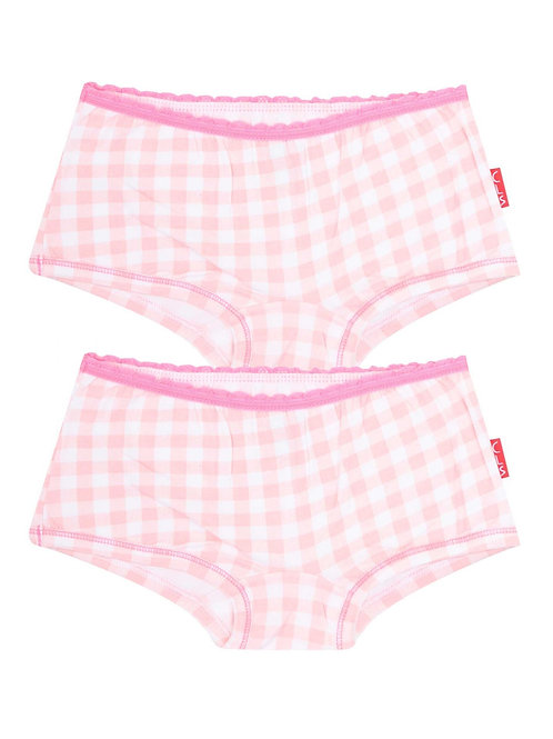 Claesens Girls Hipsters 2-Pack Vichy Pink