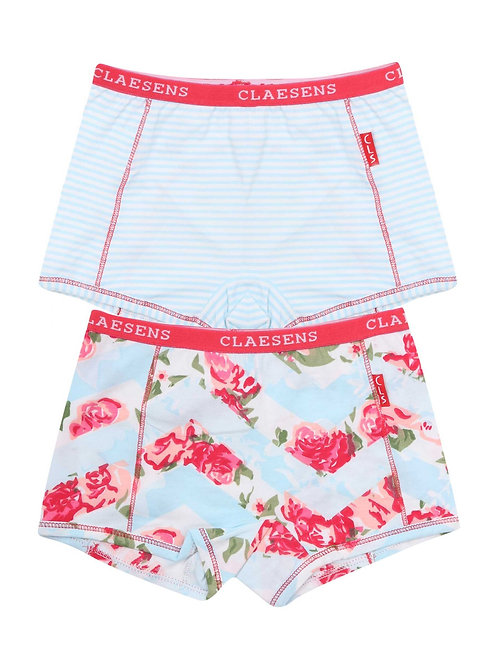 Claesens Girls 2- Pack Hipster Flowers