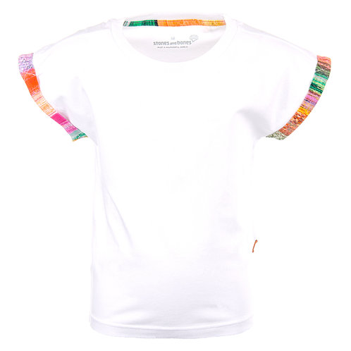 Stones and Bones T-Shirt White Multicolor
