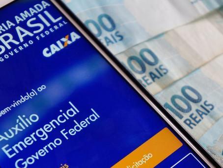 Penúltimo pagamento da 4ª parcela do auxílio emergencial é realizado pela Caixa a dois grupos