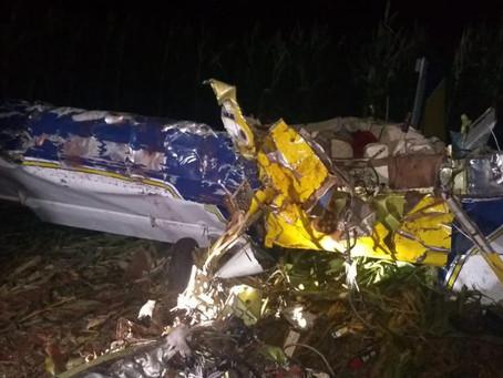 Polícia apura se mau tempo ou pane podem ter causado queda de avião que matou dois em MS