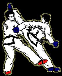 tkd sparring red & blue