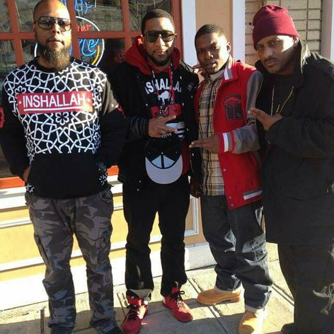 Jahan Nostra with XL, Divine & Tahmell (Rakim's son)