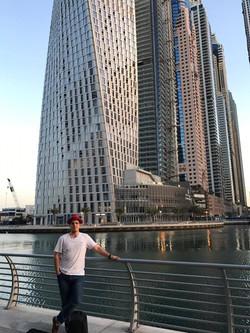 Mitch's hatter shot in Dubai CBD