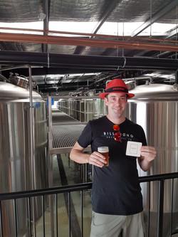 Scotty enjoying the Balter beers