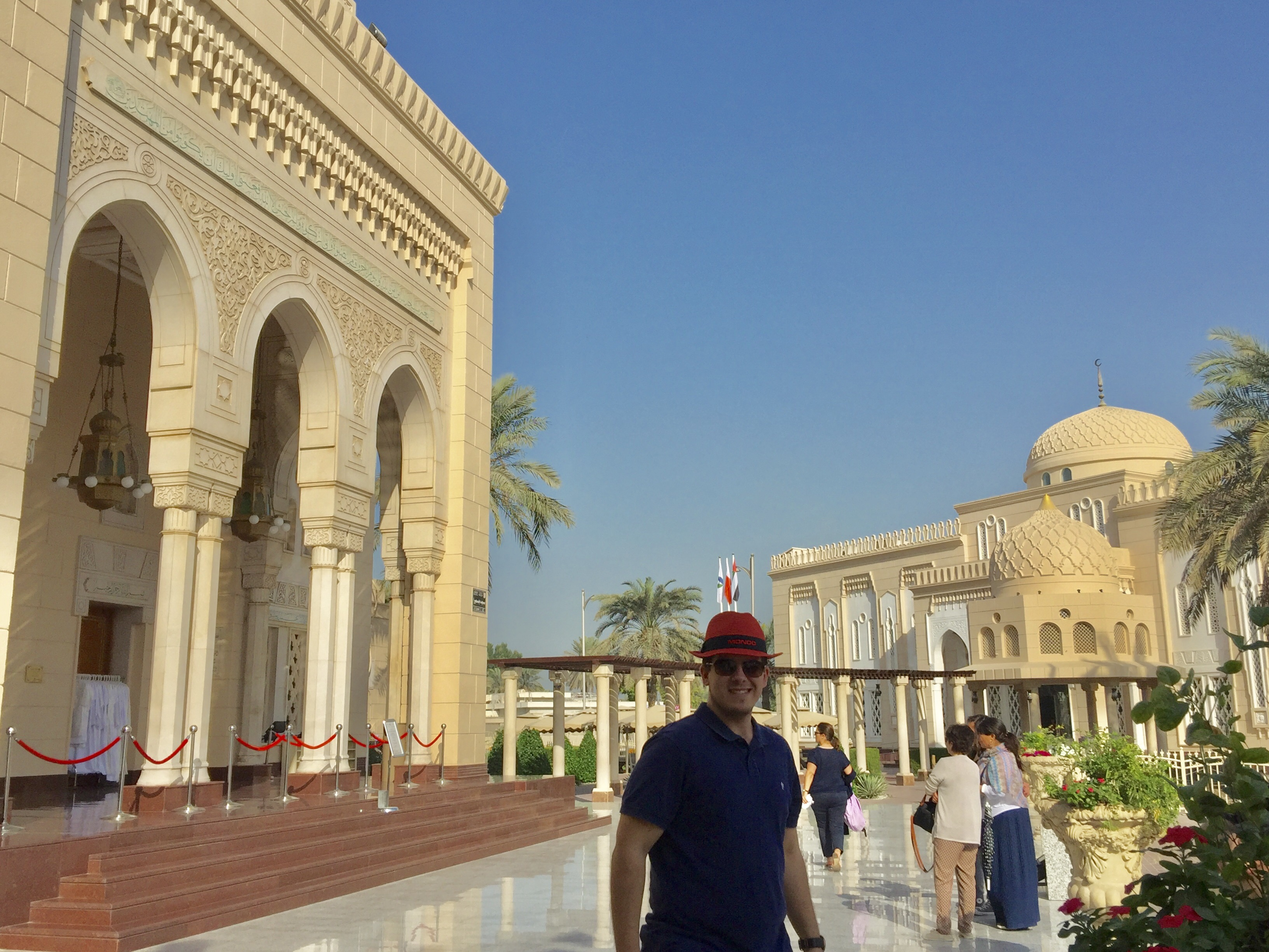 Mitch by one of the Dubai temples