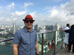 Mitch on top of Marina Bay Sands