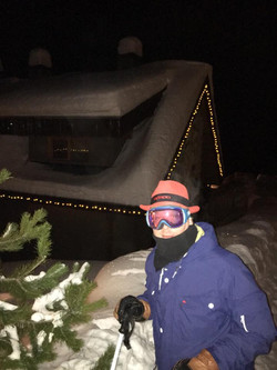 Nick's Mondo hat shot on the slopes