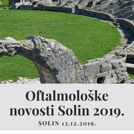 OFTALMOLOŠKE NOVOSTI 2019.