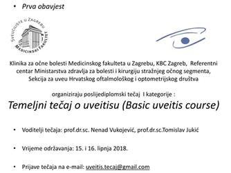 Temeljni tečaj o uveitisu (Basic uveitis course)