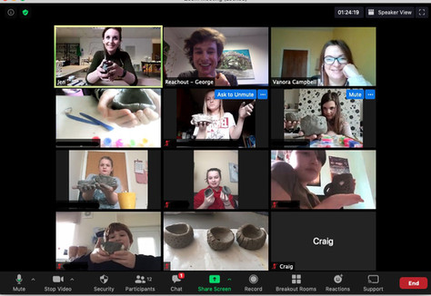 Young Carers Clay online zoom class-Reachout