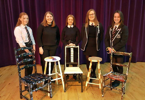 Left to right: Ellen, Kirsty, Teigan, Anna and Lauren delivered a winning presentation on 8th Dec