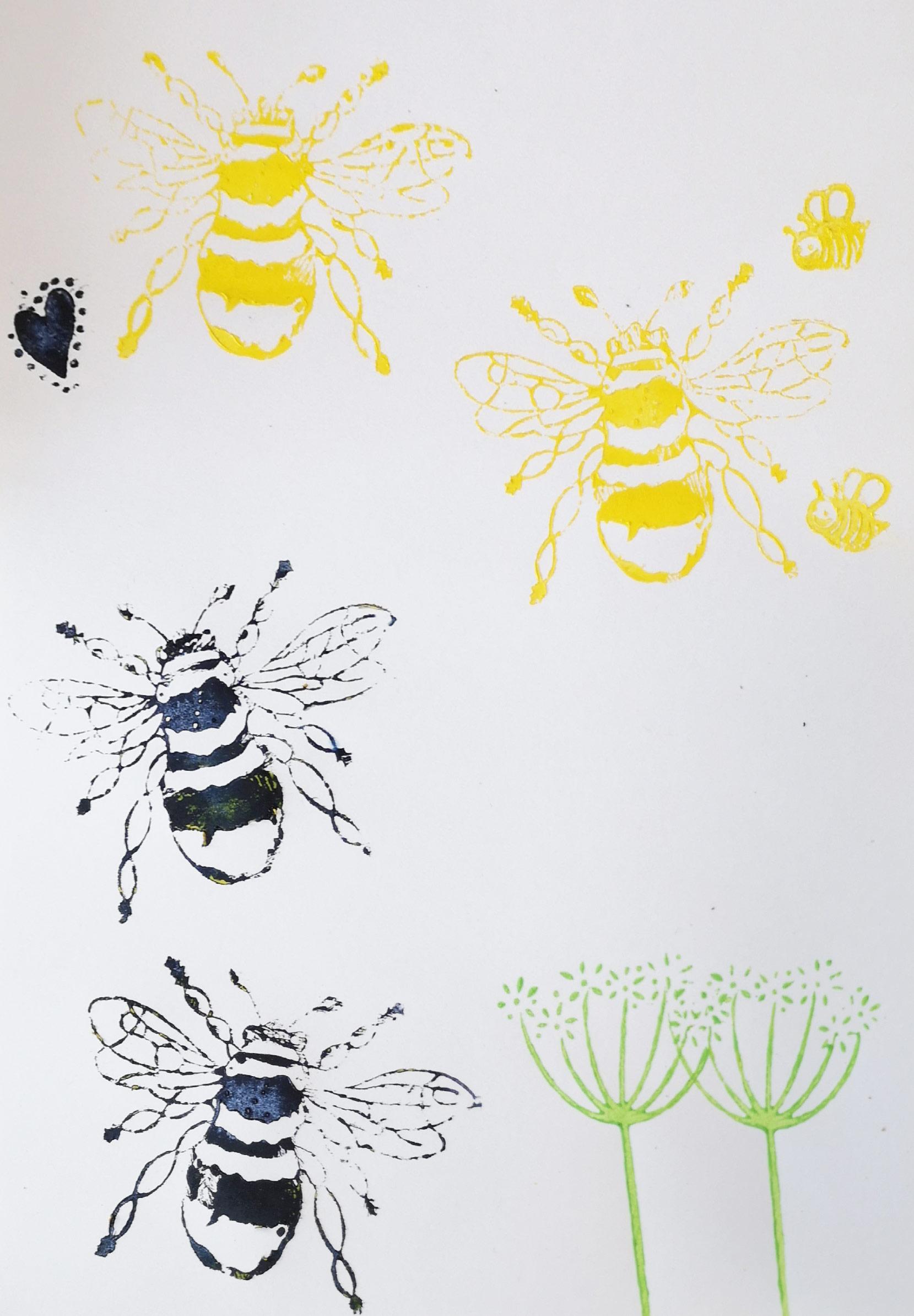 Block-print-bees
