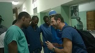 Ron with interns haiti.JPG