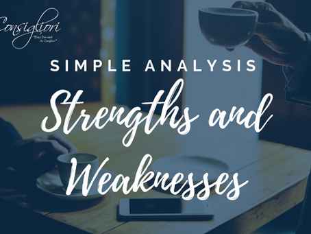 Simple Analysis – Strengths and Weaknesses