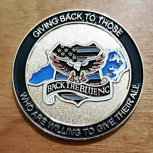 Back The Blue NC Challenge Coin