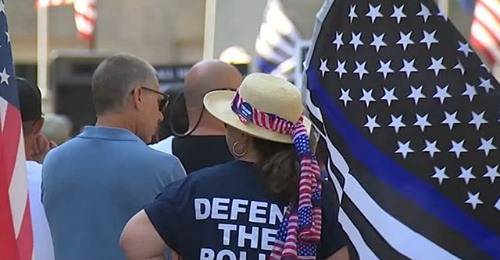 Hundreds Attend 'Back the Blue' Rally in North Carolina