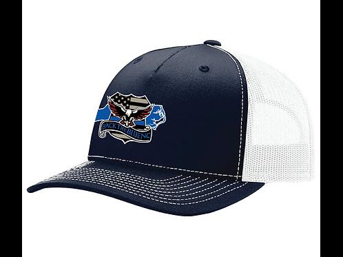 Navy/White Mesh Hat