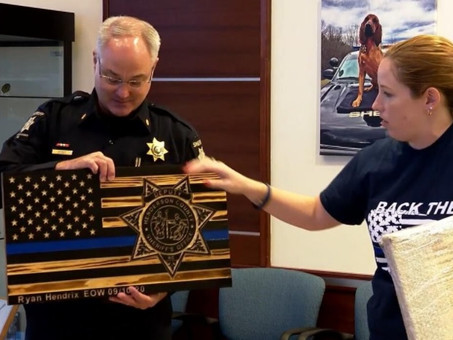 Back the Blue NC donates $10,000 to fallen Henderson County deputy's children
