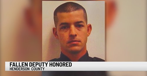 Children of fallen Henderson Co. deputy gifted $10,000