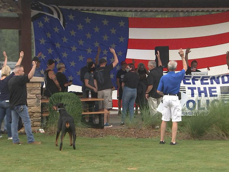 Dozens attend 'Defend the Blue' rally, 9/11 memorial event in Indian Trail