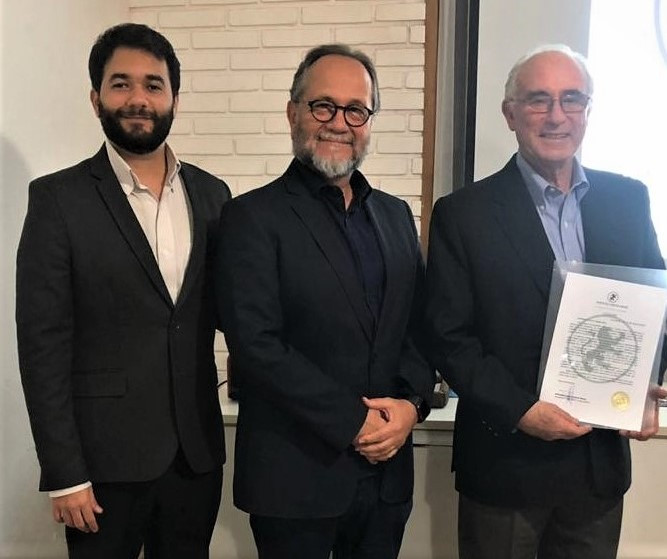 Adriano Moura, Ari Moura e Sergio Bitar na sede do ICMatus