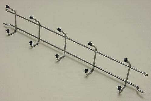 Вешалка с крючками 515 мм, платина