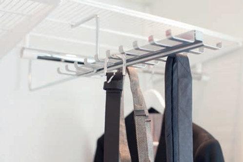 Выдвижная вешалка для галстуков и ремней, платина