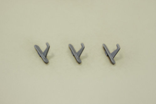 Крючок короткий 3 шт/уп, платина