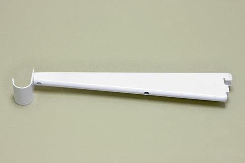Кронштейн для мелам. полки 320 мм с крючком, белый