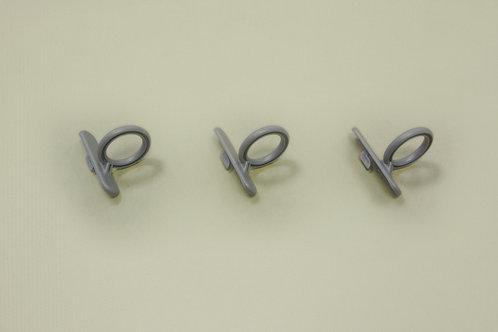 Крючок кольцевой 3 шт/уп, платина