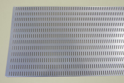 Перфорированная панель 900х382 мм, платина