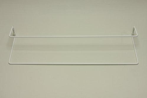 Полка для обуви одинарная 605 мм, белая