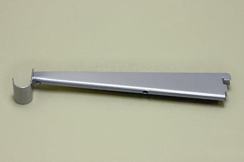 Кронштейн для мелам. полки 320 мм с крючком, платина